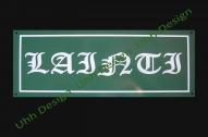 Pulverkrāsots tērauds vai kompozitmateriāls, atstarojošs 320x160