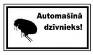 """Joku zīme """"Automašīnā dzīvnieks"""""""