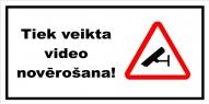 """Norāde """"Video novērošana"""" 10x20"""