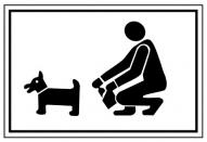 """Norāde """"Par suņiem .."""" 22x32"""