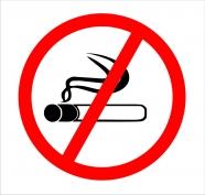 """Norāde """"Smēķēt aizliegts"""" 15x15 (shem.)"""